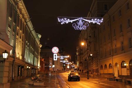украшения городов к новогодним праздникам